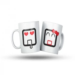 valentine couple mug - white
